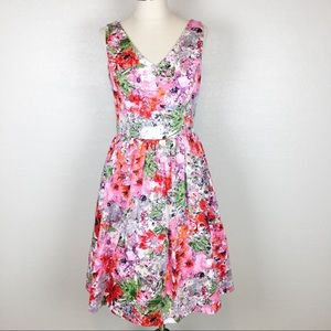 Maggy London Floral Fit & Flare Dress NWT